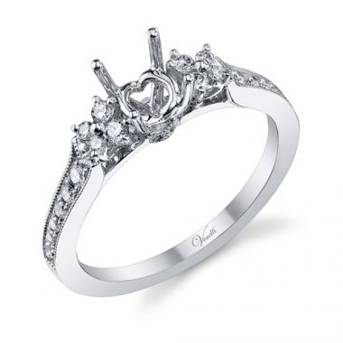 Venetti Designs 14k White Gold 0.29ct Diamond Engagement Ring
