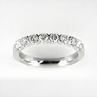 Venetti Designs 14k White Gold 0.87ct Diamond Wedding Band