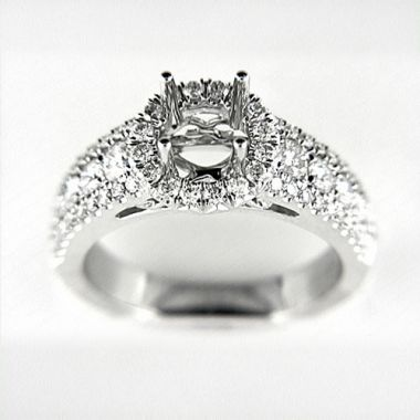 Venetti Designs 14k White Gold 1.17ct Diamond Engagement Ring