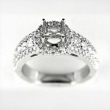 Venetti Designs 14k White Gold 1.17ct Diamond Engagement Ring
