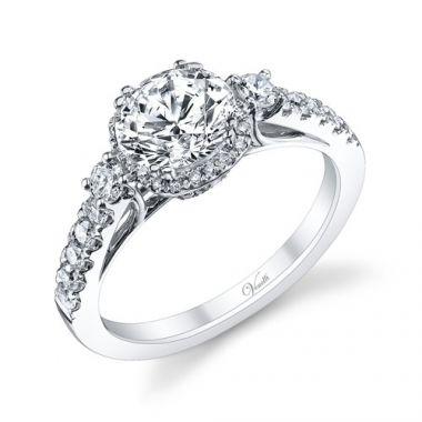 Venetti Designs 14k White Gold 0.62ct Diamond Engagement Ring