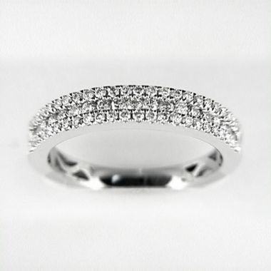 Venetti Designs 14k White Gold 0.55ct Diamond Wedding Band