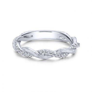 Gabriel & Co. 14k White Gold Stackable Diamond Ring